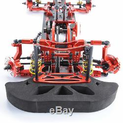 Alloy&Carbon Fiber 110 Frame G4&Accessories for HSP RC 4WD Drift Model Car Red