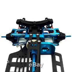 Alloy & Carbon Shaft Drive 1/10 RC 4WD Touring Car Chassis Frame Kit TT01 TT01E