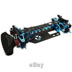 Alloy Carbon Shaft Drive Car Body Frame Kit for TT01 TT01E 1/10 RC 4WD Touring