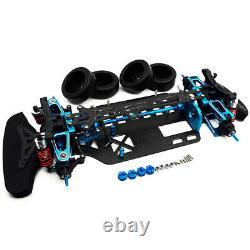 Alloy Carbon Touring Car Frame Kit For TAMIYA TT01 TT01E Shaft Drive Rc 1/10 4WD