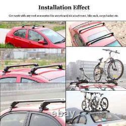 Aluminium Car Roof Rack Sedan Luggage Carrier Cross Bar Window Frame Adjustable