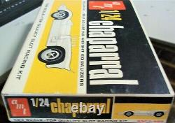 Amt Vintage 1/24 1/25 New Chaparral White Slot Car Kit Chassis Box + Revell Cox