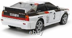 Audi Tamiya 1/10 electric RC Car Series No. 667 Quattro rally A2 TT-02 chassis