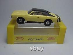 Aurora Model Motoring Dodge Charger Slot Car With Case, Label & Nos Chassis