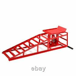 Auto Car truck Service Ramps Lifts HD Hydraulic Lift Repair Frame Red
