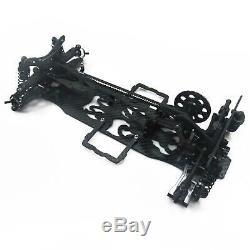 Black 1/10 Alloy & Carbon SAKURA D4 AWD EP Drift Car Frame Body Kit #KIT-D4AWD
