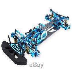 Blue 110 4WD Drift Alloy Carbon Fiber RC Racing Car Drive Shft Frame Kit RC Car