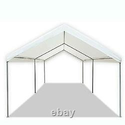 Canopy Carport 10 X 20 Heavy Duty Portable Garage Tent Car Shelter Steel Frame