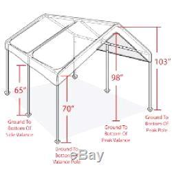 Canopy Garage Top Frame 10 x 20 Big Tent Portable Parking Carport Car Shelter