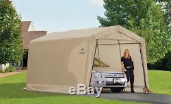 Canvas Carport Metal Frame Car Garage Canopy Tent Shelter Portable Heavy Duty