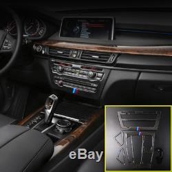 Car Accessories Real Carbon Fiber Frame Trim Kit For BMW X5 F15 X6 F16 2014-2018