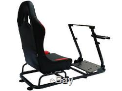 Car Gaming Racing Sim Frame Chair Bucket Seat For PC PS4 XBox PS3 Black/Red Gift