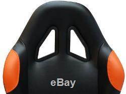 Car Gaming Racing Simulator Bucket Seat Frame Sim PC PS3 PS4 XBox Black/Orange