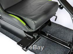 Car Gaming Racing Simulator Frame Chair Bucket Seat Frame Black/Green PS4 Xbox