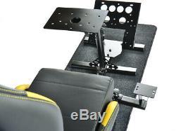 Car Gaming Racing Simulator Frame Chair Bucket Seat Frame Black/Yellow PS4 Xbox