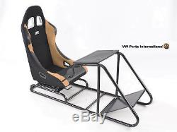 Car Gaming Racing Simulator Frame Chair Bucket Seat PC PS3 PS4 XBOX Black/Beige