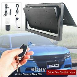 Car Hide-Away Shutter Cover Electric Stealth USA License Plate Frame Flipper Set