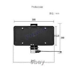Car License Plate Holder Frame Retractable Curtain Shutter Blinds USA Standard