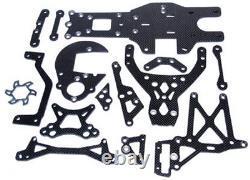 Carbon Fiber Chassis Parts Plate for HPI Baja5b 5t 5SC Rofun KM baja 5b