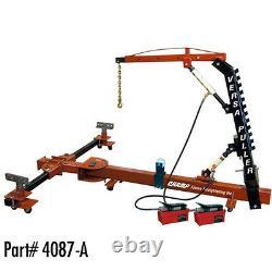 Champ 10 Ton Versa-Puller Car Frame Machine with Overhead Boom & 2 Pumps 4087-A