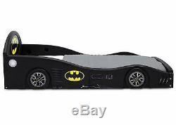Childs Bed Frame Kids Bedroom Furniture Boys Batmobile Car W Attached Guardians