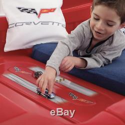 Corvette Car Bedroom Set For Kid Toddler Boy Children Toy Twin Size Bed Frame