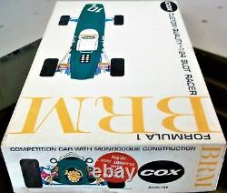 Cox Vintage 1/24 1/25 New Brm F-1 Slot Car Kit Chassis & Box Revell Amt Kb