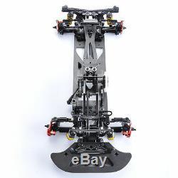 DIY Alloy&Carbon Fiber G4 Frame Chassis Kit for HSP RC 1/10 4WD Drift Model Car