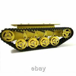 DIY Tank Tracked Chassis Metal Smart Robot Car + 12V 300RPM 37 Motors TS100 #SZ