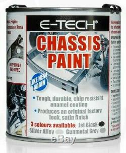 E-Tech Quick Repair, Protect & Restore Car Underbody Chassis Paint BLACK 500ML