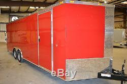 Enclosed car hauler tube frame 8.5x20 v nose, COLOR
