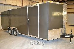 Enclosed car hauler tube frame 8.5x24 v nose, color
