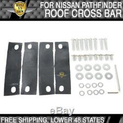Fit 13-17 Nissan Pathfinder Roof Rack Top Cross Bar Rail Set Silver Aluminum