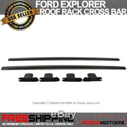 Fits 11-15 Ford Explorer Roof Rack Cross Bar Pair Black