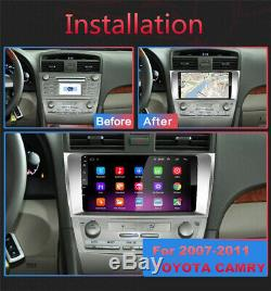 For 07-11 Toyota Camry 9 Android 9.1 Car Stereo Radio GPS MP5 1+16GB Gray Frame