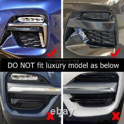 For BMW X3 X4 G01 G02 2018 2019 2020 Car Front Fog Light Frame Cover Grille Trim
