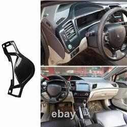 For Honda Civic 9th 2012-2015 Car Dashboard Frame Trim Cover Bezel Carbon Fiber
