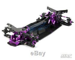 Free Fedex, EMS-MST RMX-D VIP 1/10 2WD Drift Car Chassis ARR(purple) 532124