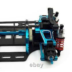 Für 1/10 TAMIYA 4WD TT01 TGS Tourenwagen Carbon Fiber Chassis Metal RC Car Frame