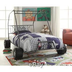 Go-Kart Twin Size Race Car Bed Frame Children Toddler Kids Bedroom Furniture Set