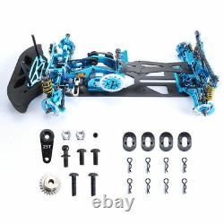 HSP HPI RC 110 4WD Drift Racing Car Alloy&Carbon Fiber Body G4 Frame Kit Blue