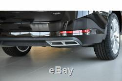 Imitating Exhaust silver for Skoda Superb MK3 III 3V3 Sedan + 3V5 Combi GR
