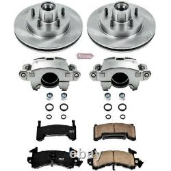 KCOE1482 Powerstop 2-Wheel Set Brake Disc and Caliper Kits Front for Chevy Olds
