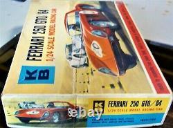 K&b Kb Aurora New 1/24 1/25 Ferrari 250 Gto Slot Car Kit Chassis Box+ Cox Amt