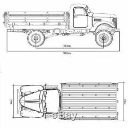 Kingkong RC 1/12 Soviet ZIS-150/CA10 4x2 Climbing Truck Metal Chassis KIT Car