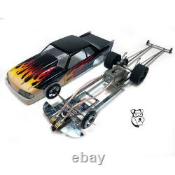 MID 325Y RTR Drag Car 1990 Mustang LX with Phoenix motor Steel Chassis 1/24