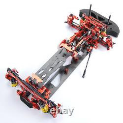 Metal&Carbon RC 110 Drift Racing Car G4 Frame Chassis 4WD disassembly Model Kit