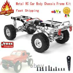 Metal RC Car Body Chassis Frame Kit for WPL C14 C24 1/16 Car Truck(Silver)