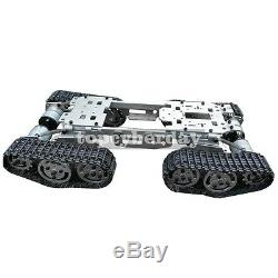 Metal Robot Car ATV Track Tank Chassis Suspension Obstacle Crossing Unassembled