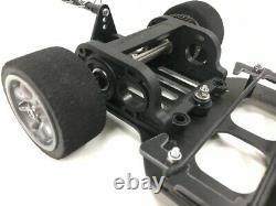 Mini Racer Hot Rod RC Kit Racing Rolling Chassis BLACK GRP Kamtec